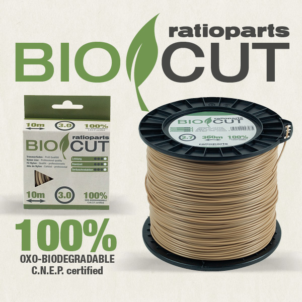ratioparts BIO CUT 100% oxo-biologicky rozložitelná nylonová struna